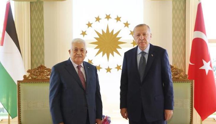 Son dakika... Cumhurbaşkanı Erdoğan, Mahmud Abbas görüşmesi başladı