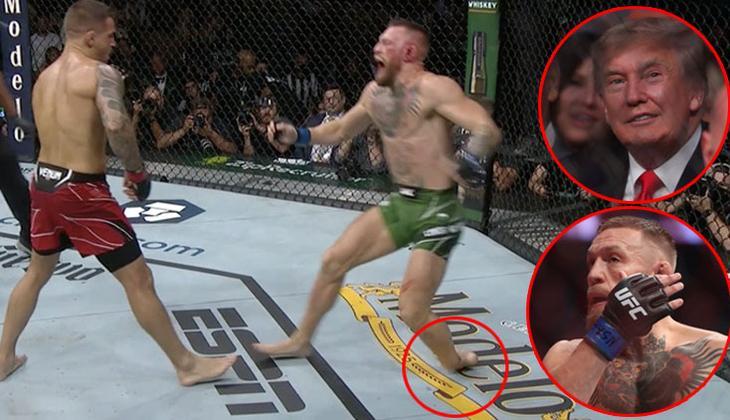 Son dakika: UFC'de Conor McGregor'un ayağı kırıldı, Dustin Pourier maçı kazandı