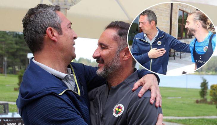 Son dakika: Fenerbahçe'de Ali Koç ve yöneticilerden kampa ziyaret! Vitor Pereira ve Caner Erkin...