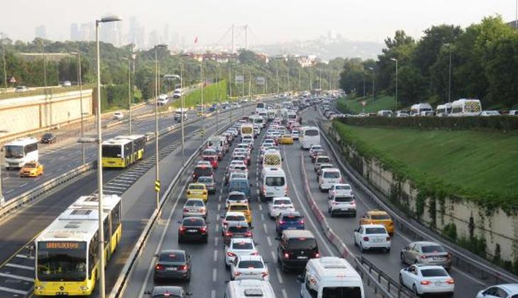 İstanbul'da trafik yoğunluğu!