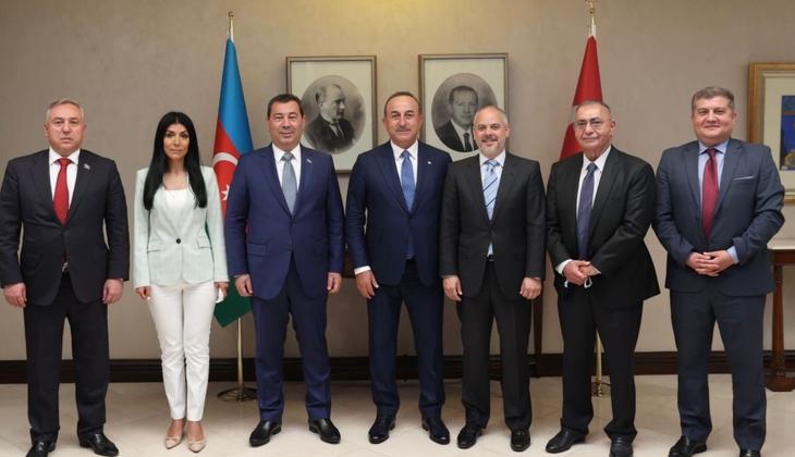 Dışişleri Bakanı Çavuşoğlu, Azerbaycan Milli Meclisi Dışişleri Komitesi Başkanı Seyidov ile bir araya geldi