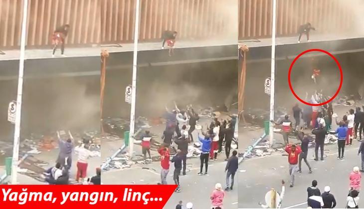Son dakika haberi: Dünyanın kanı dondu... Çocuğunu yanan binadan böyle aşağı attı!