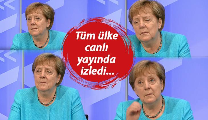 Merkel'in zor anları! Gözlerini açamadı