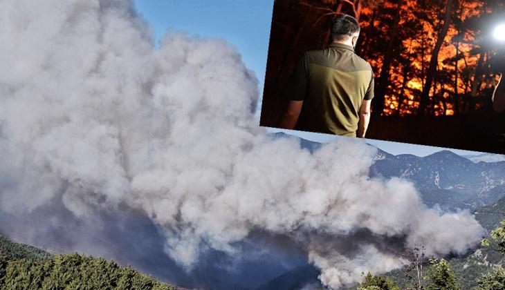 Son dakika... Mersin Aydıncık'ta dün çıkan orman yangını sürüyor