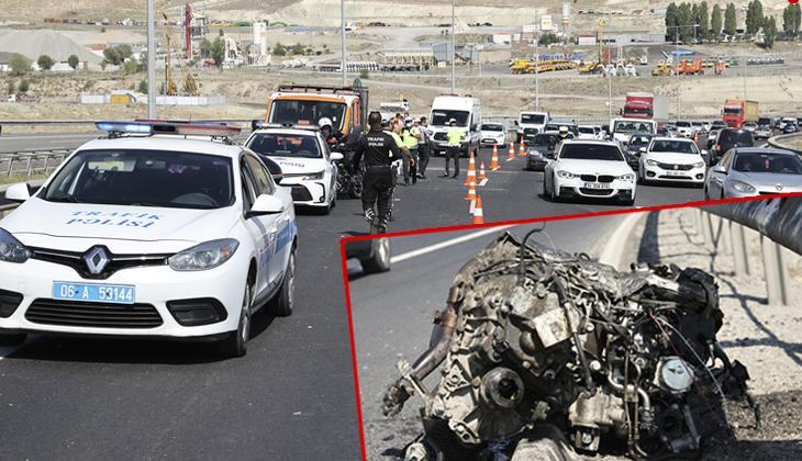 Ankara'da 3 araç birbirine girdi: 7'si çocuk 17 yaralı