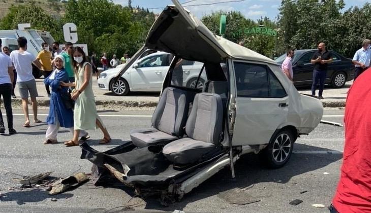 Korkunç kaza! Araç bu hale geldi: 1 kişi hayatını kaybetti