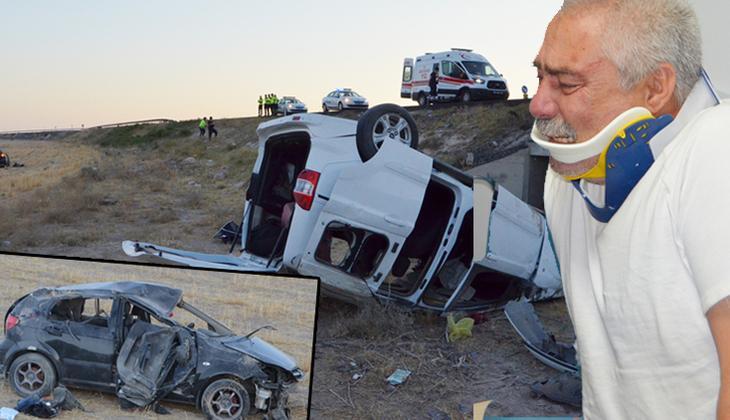 Feci kazada iki kişi öldü, 7 kişi yaralandı! Eşinin öldüğünü öğrenince gözyaşlarına boğuldu