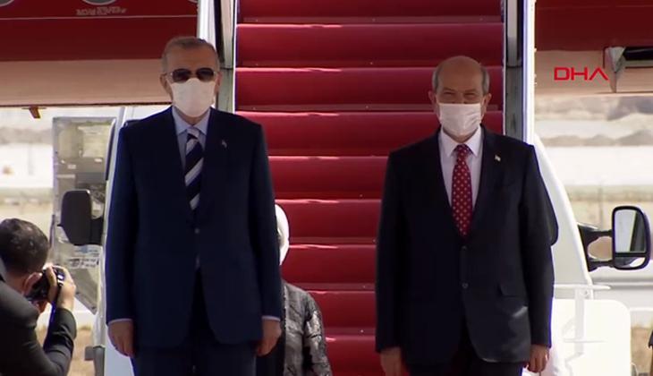 Son dakika: Cumhurbaşkanı Erdoğan KKTC'de