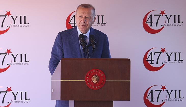 Son dakika: Cumhurbaşkanı Erdoğan, KKTC'de... 'Buradan AB'ye sesleniyorum' deyip açıkladı: Ne oldu, siz sözünüzü tuttunuz mu?