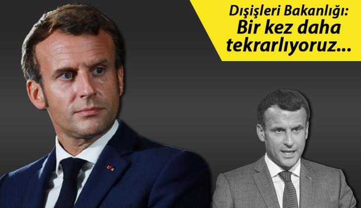 Son dakika: Türkiye'den, Fransa Cumhurbaşkanı Emmanuel Macron'a kınama