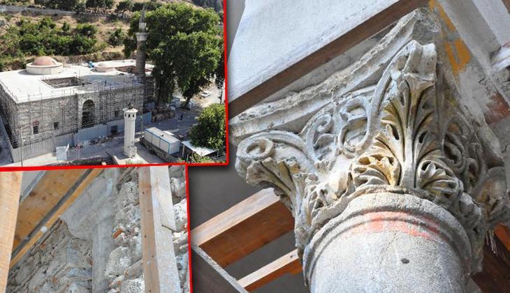 2018 yılında başlamıştı... Restorasyonda ortaya çıktı: Bizans sütunlarını sıvamışlar