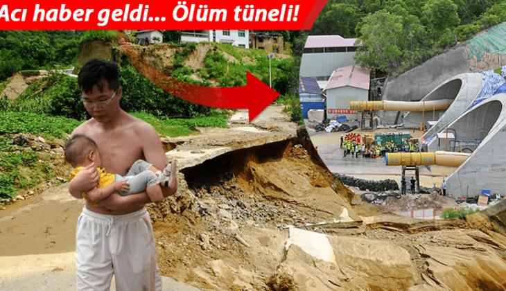 Çin'de su baskını nedeniyle tünelde mahsur kalan 14 işçinin cesedi bulundu