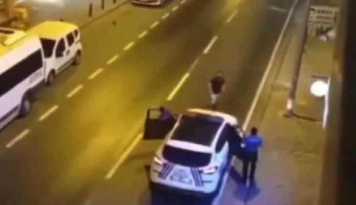 Ümraniye'de bıçaklı saldırgan alarmı! Ayağından vurularak etkisiz hale getirildi