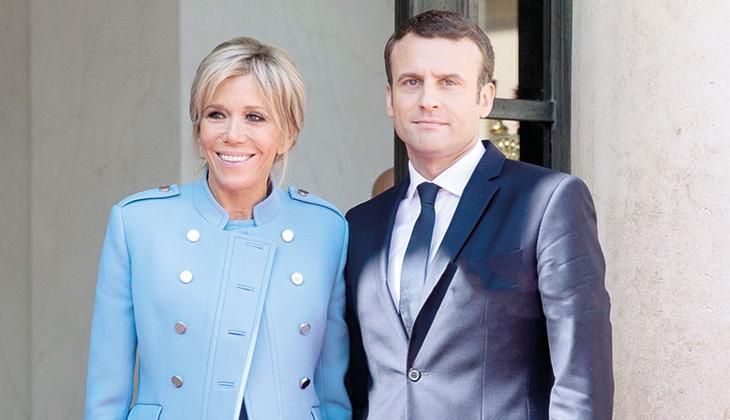 Bayan Macron Elysee'yi yönetiyor