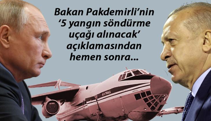 'Türkiye yangın uçağını Rusya'dan alacak' iddiası