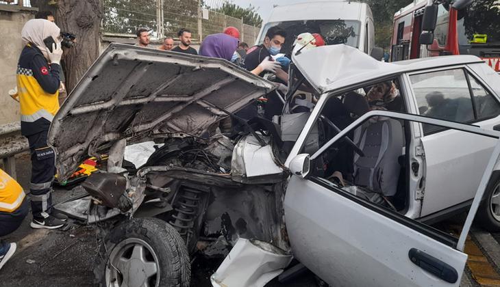 Bakırköy'de feci kaza: 4 yaralı