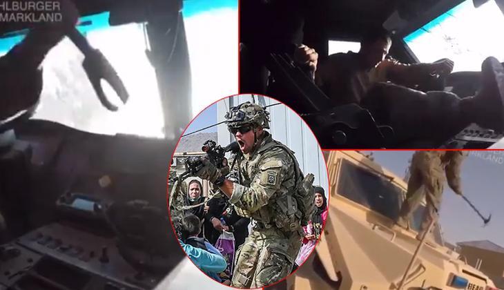 Kabil Havalimanı'nda inanılmaz anlar! ABD'li askerlerin Afganistan'ı terk etmeden önceki görüntüleri ortaya çıktı