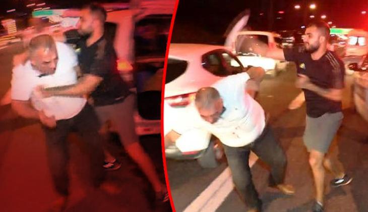 TEM Otoyolu'nda feci kaza! Alkollü sürücüye saldırdılar...