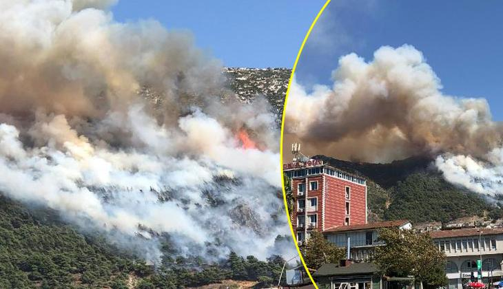 Son dakika! Hatay Antakya'da orman yangını