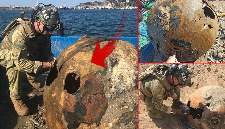 İstanbul Boğazı'nda balıkçı teknesi ağına deniz mayını takıldı... SAS timi imha etti!