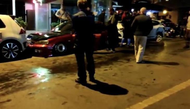 Caddeyi savaş alanına çevirdi! Kaza anı kamerada