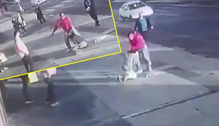 Sokak ortasında eski eşinin bıçaklı saldırısına uğradı! Korkunç anlar kamerada