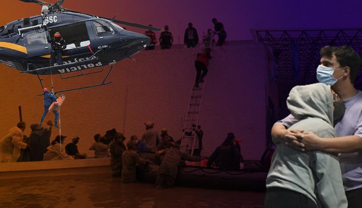 Son dakika: Meksika bir günde 2 felaket ile sarsıldı... Önce sel sonra deprem!