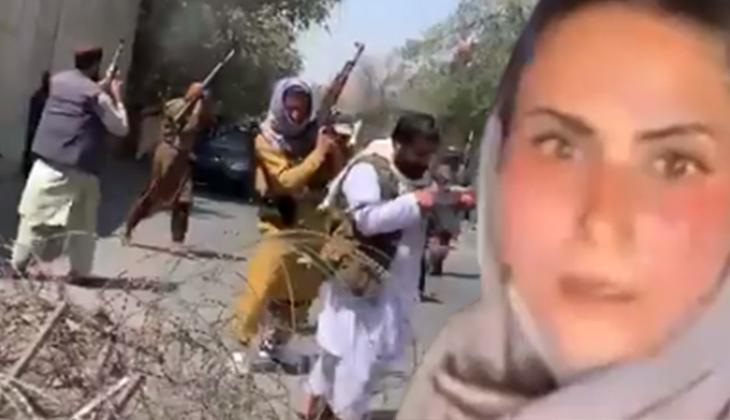 Afgan kadın gizlice çekti... İzleyenlerin kanı dondu!