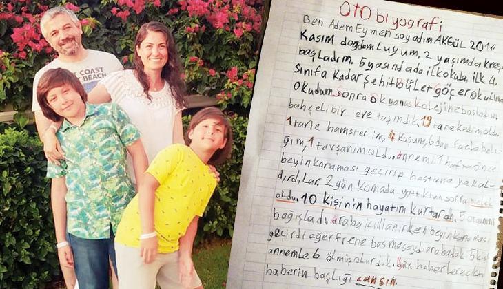 Ağlattın bizi Eymen! Okulun ilk günü bu satırları yazdı: Annem melek oldu
