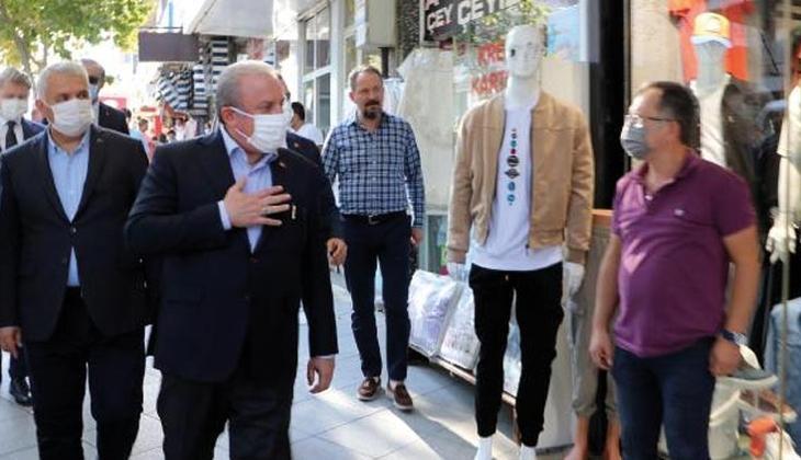 TBMM Başkanı Şentop, Tekirdağ'da esnaf ziyareti yaptı