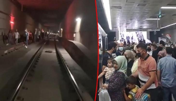 Topkapı-Mescidi Selam Tramvay Hattında arıza! Yoğunluk oluştu, raylarda yürüdüler