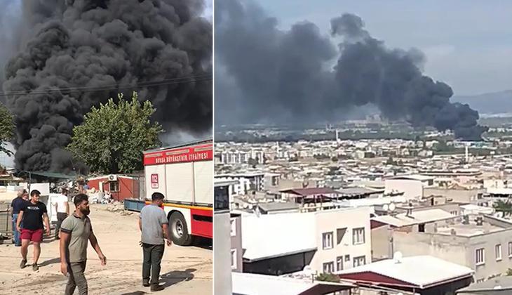 Son dakika: Bursa'da geri dönüşüm tesisinde korkutan yangın