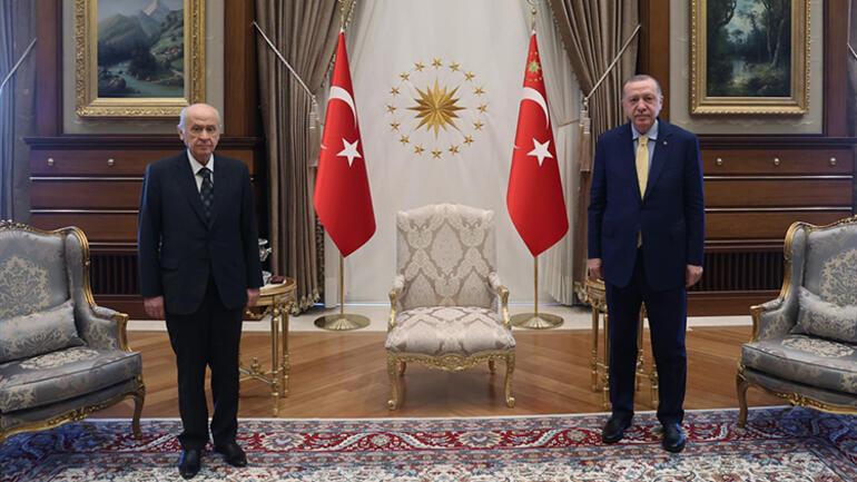 Son dakika... Cumhurbaşkanı Erdoğan, Bahçeli görüşmesi başladı