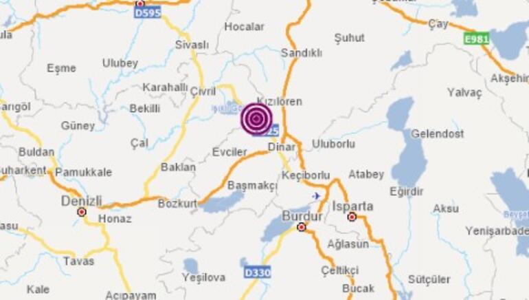 Son dakika deprem haberi: Afyonkarahisarda korkutan deprem Isparta ve Burdurda hissedildi