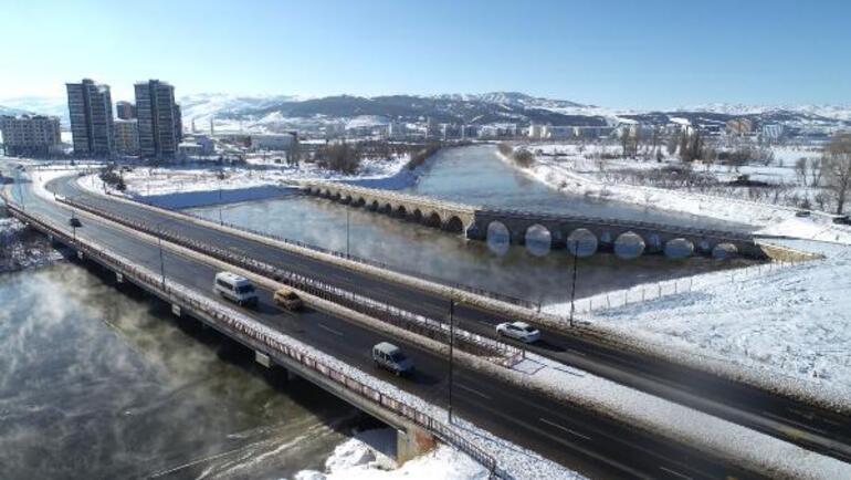 Kızılırmak dondu, Altınyayla ilçesi eksi 26 ile Türkiyenin en soğuk yeri oldu