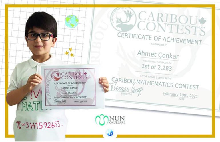 NUN okulları öğrencisinden Matematikte dünya birinciliği