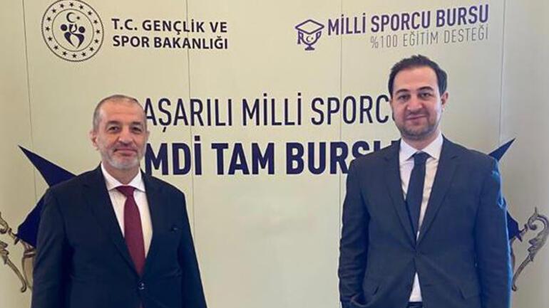 Milli Sporcu Bursu ile sporculara HKÜ'den de yüzde yüz destek