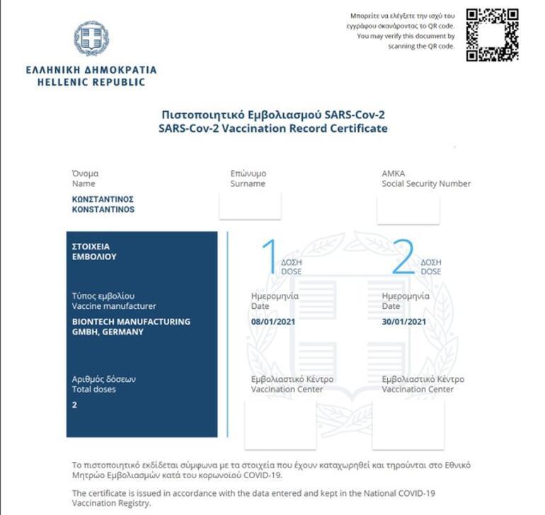 Son dakika haberler... Yunanistan aşı sertifikası dağıtmaya başladı