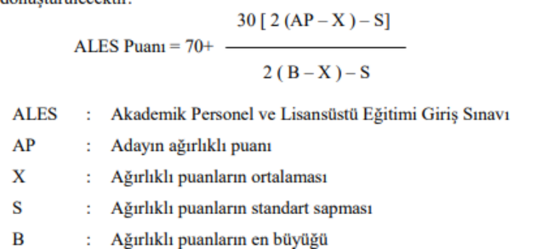 ALES puan hesaplama nasıl yapılır ALES puan hesaplama değerlendirme tablosu