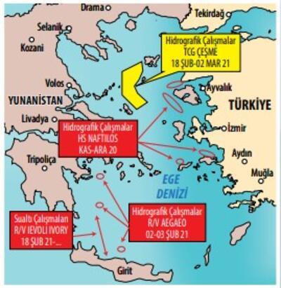 Yunanistan'a haritalı 'TCG Çeşme' cevabı