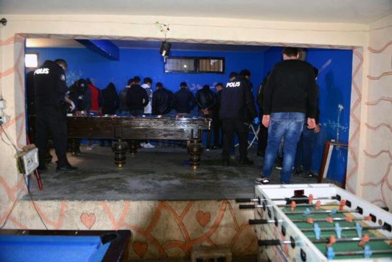 Kafe görünümlü oyun salonuna polis baskını