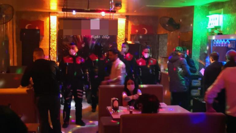 Konyada eğlence mekanına şok baskın 447 bin lira ceza uygulandı