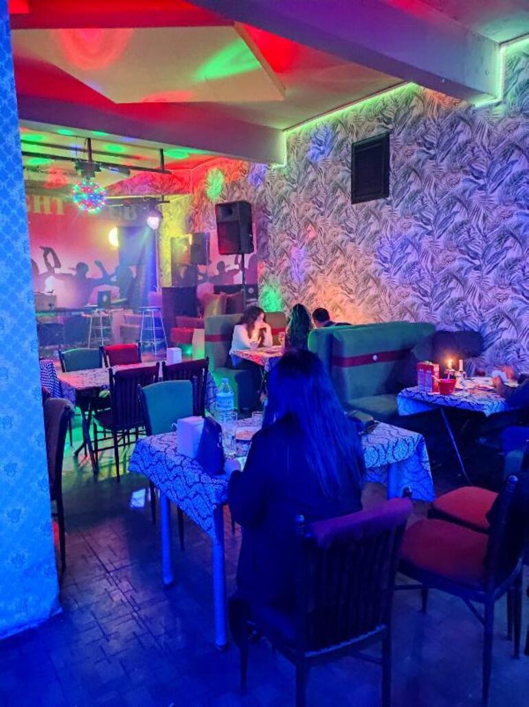 10 gün önce baskın yapılmıştı Pavyona çevrilen lokantada yine aynı manzara