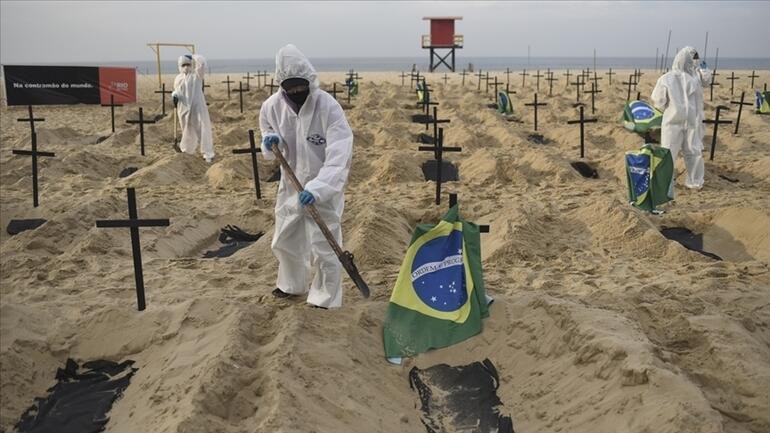 Brezilyada P1 kabusu: Bir günde 4 bin 249 kişi öldü