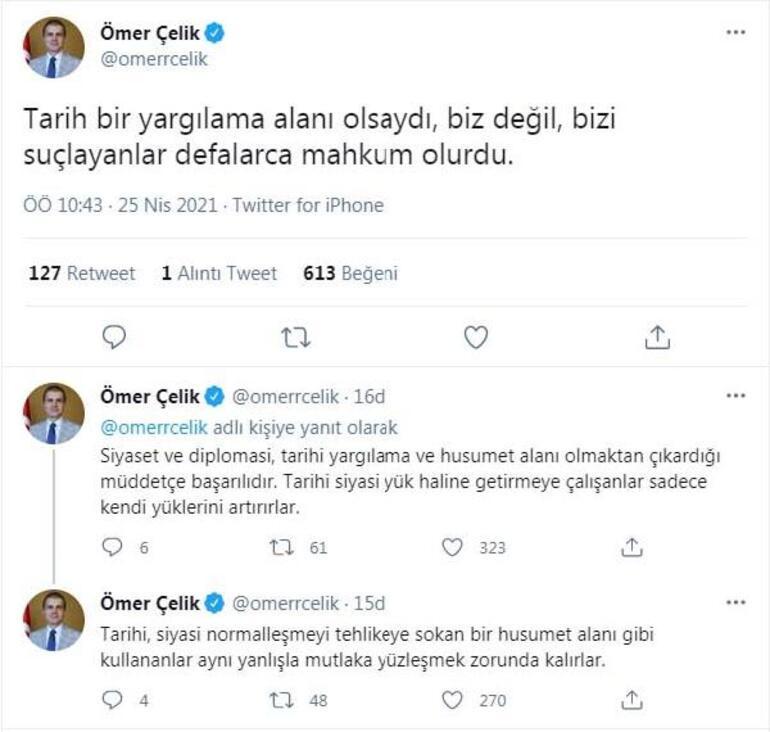 Son dakika: AK Parti Sözcüsü Çelikten 1915 olayları açıklaması