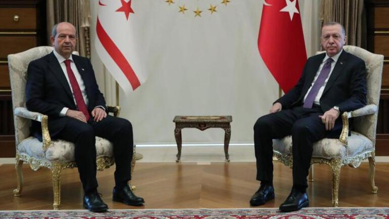Cumhurbaşkanı Erdoğan, Ersin Tatarı ağırladı