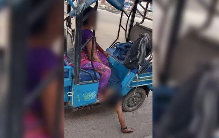 Hindistana ambulans bulamayan anne ölen oğlunu kendi taşıdı