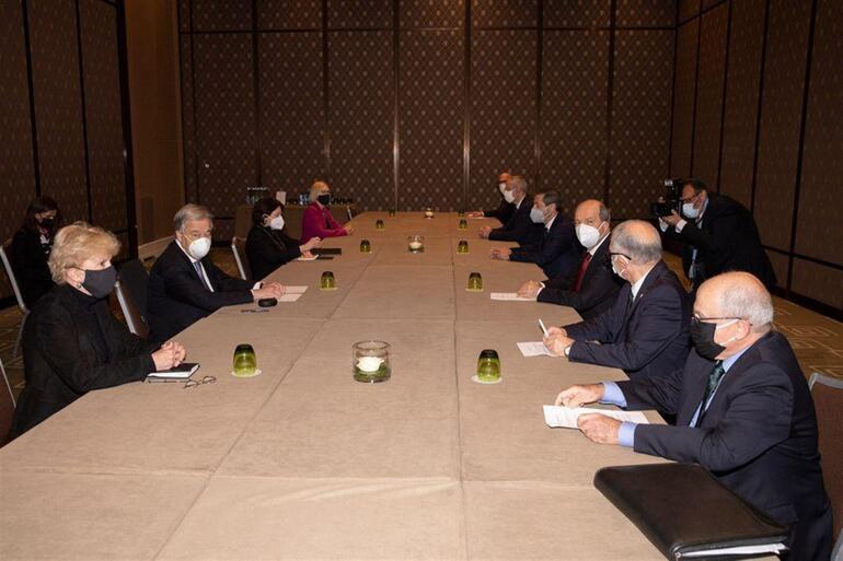 Cenevredeki 5 1 gayriresmi Kıbrıs konferansında Guterres-Tatar ikili görüşmesi sona erdi