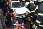 Aksarayda feci kaza Hastaneden taburcu oldu, iki araç arasında sıkıştı