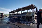 Bingölde yolcu otobüsü yandı